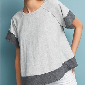 NWT Anthropologie Chrissy Colorblocked Top Small S